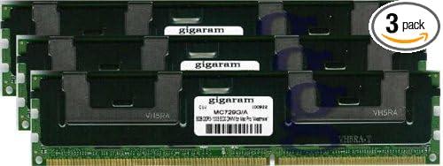 Gigaram 24GB Apple# 3 x MC729G//A 3x8GB DDR3-1333 ECC DIMM for Apple Mac Pro 6-Core 3.33Ghz Intel Xeon Westmere