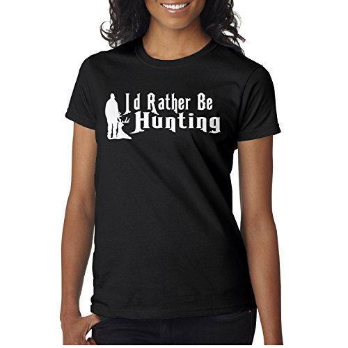 b70fc6c0f7b44 SERXO ID Rather Be Hunting Decal1 Women's Casual Tee Pattern Design  Personality