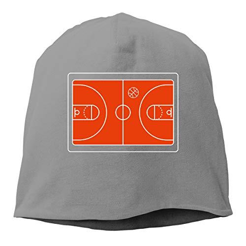 Kla Ju Woman Skull Cap Beanie Basketball Court Headwear Knit Hat Warm Hip-hop Hat Deep Heather