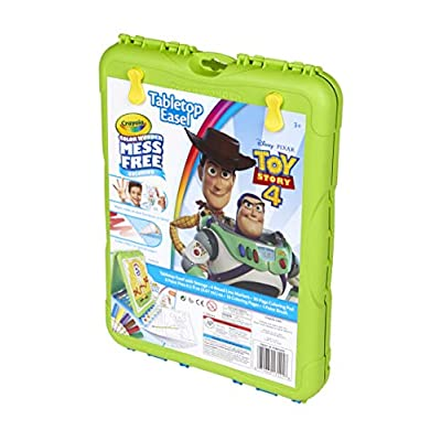 Crayola Color Wonder Travel Easel Toy Story 4 Pages with Bonus Pages, Markers and Color Wonder Paint Coloring Travel Books and Easel 61 Piece MEGA Set: Toys & Games