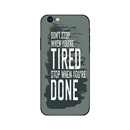 Char Brush - Phone Case Compatible with iphone6 iphone6s mobile phone covers phone shell Brandnew Tempered Glass Backplane,Fitness,Motivational Quote Dont Stop Encouraging Keep Moving Brush Strokes Decorative,Char