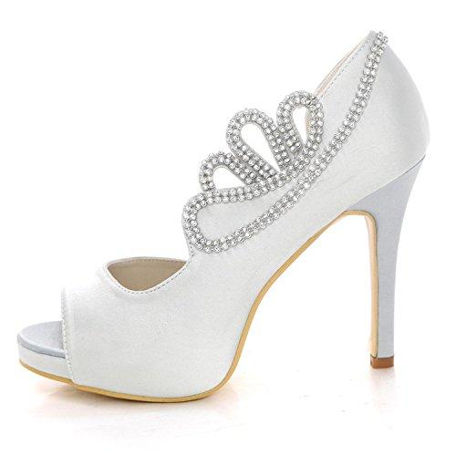 di Strass Donna Ivory Scarpe da Scarpe Dimensioni shoes Party Damigella da Sposa Summer high Grandi 6041 Satin da 07 Elegant xvYwqaEHq