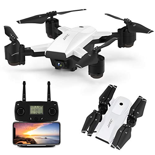 JJRC H78G 5G WiFi FPV Foldable Drone with 1080P HD Camera Live Video,GPS Drone 30Mins(15+15) Long Flight Time RC Quadcopter with Follow me,Smart Return Home,Folding Rc Drone for Adults(White)