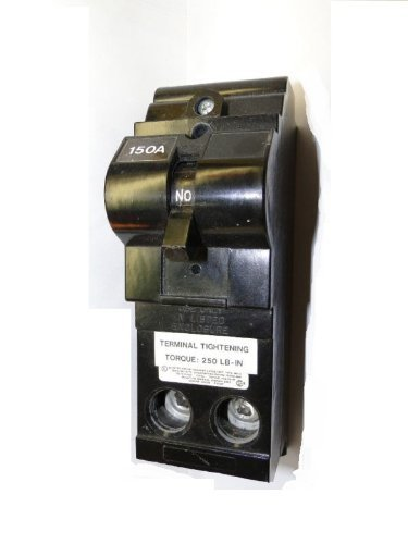 mda-200 2 Pole, 200 Amperes, 10kA Maximum Symmetrical Amperes Interrupting Capacity Rating @ 240 Volts A.C., Plug-In, Main Residential, Thermal Magnetic Circuit Breaker. * Wire enters the lug terminals parallel to the action of the handle