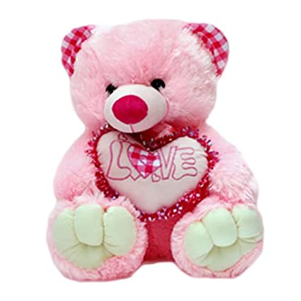 buy love teddy bear with heart online at low prices in india amazon in