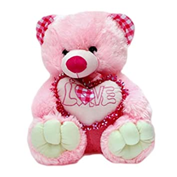 Buy love teddy bear with heart online at low prices in india amazon altavistaventures Images