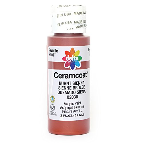 Delta Creative Ceramcoat Acrylic Paint in Assorted Colors (2 oz), 2030, Burnt Sienna
