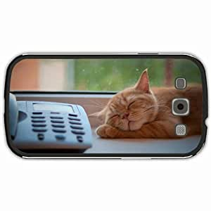 Samsung Galaxy S3 Black Hardshell Case phone sleep window sill waiting Desin Images Protector Back Cover