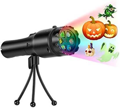 TOOGOO - Proyector de luz portátil para Halloween, 12 luces de ...