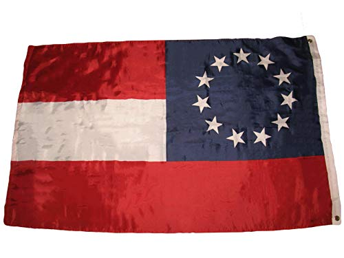 Hebel 3x5 Stars and Bars First National 11 Southern States CSA Civil War Flag 3x5 | Model FLG - 534