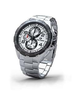 TIME FORCE 81039 - Reloj de caballero movimiento de cuarzo con correa de acero inoxidable