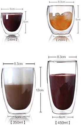 Copas de vino inquebrantable Copa de vino gigante Jugo de doble pared de vidrio creativo del vidrio de vino de Champagne Whisky café taza de té de café Leche Cafe Copa Copas de vino de plástico con ta
