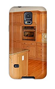 Galaxy S5 Case Cover Cherry Kitchen Cabinetry With Oak Flooring Case - Eco-friendly Packaging