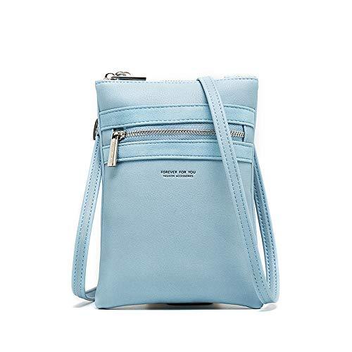 AnnabelZ Small Crossbody Bag Mini Cell Phone Purse Wallet Shoulder Bag For Women(Blue)