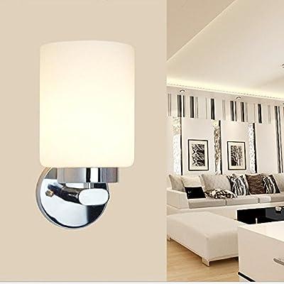 Appliques, lampes de chevet lampe murale Création lumière LED lampe murale couloir escalier blanc lait lampe murale wall lamp projet tête unique