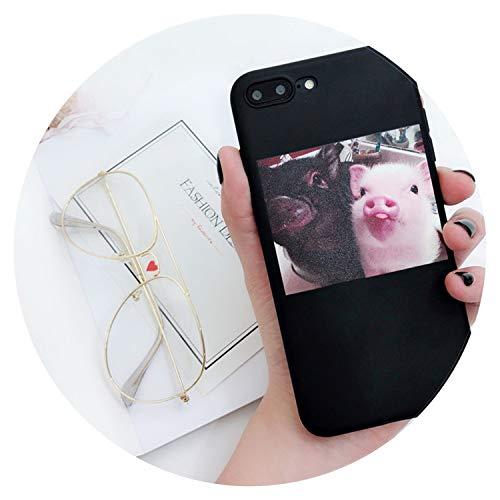(Soft Silicon Cover for iPhone 6 7 8 Plus X XR XS Max Cartoon Pig Love Cases for iPhone 6 6S Plus Soft Back Cover Coque,Grimace Pig,for iPhone 6 6s)
