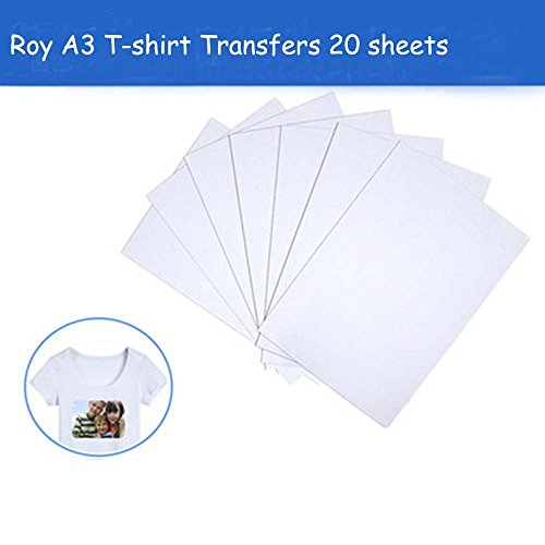 A3 T-Shirt Transfers for Inkjet Printers,Iron Heat Transfer Paper for White or Light-Colored Fabric T-Shirts, 17