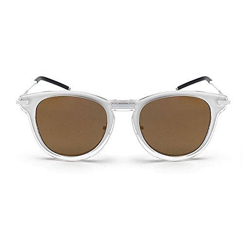 Color Sol Mujeres de Unisex diseñador Playa al conducción Retro Aire Oro UV Colores Gafas Hombres Vacaciones Tonos Brillantes KOMEISHO Libre para Oro de Verano protección Novedad w7fxqggX