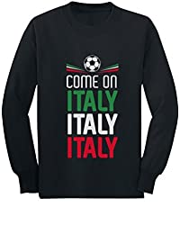 Tstars Come On Italy - Soccer Fans Youth Kids Long Sleeve T-Shirt