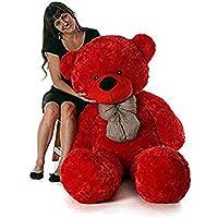 RSS Soft Toys Lovable/Huggable Teddy Bear for Girlfriend/Birthday Gift/Boy/Girl red 3 feet (90 cm)