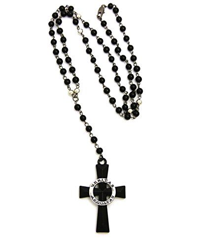 Veritas Aequitas Cross Pendant with 6mm 30