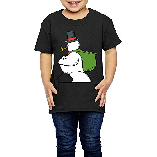 Snowman Children's Comfortable Casual 100% Cotton Not Shrink Short Sleeve Round Collar Children Clothes Casual T-shir 2T-6T