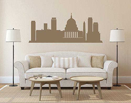 Ik2376 Wall Decal Sticker Us Capital City Washington Panorama Living Room Bedroom