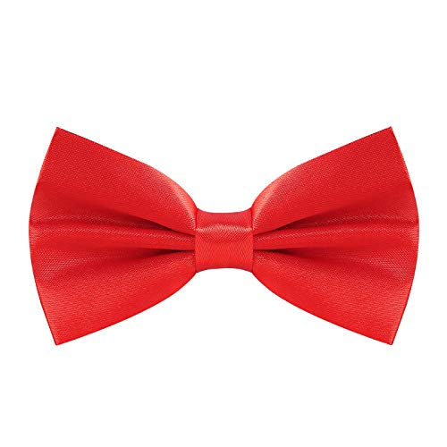 Red Bow Tie for Men Halloween Costume Bowties Bowtie