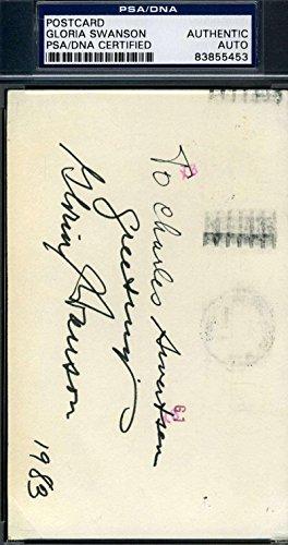 Gloria Swanson Signed Gpc Govt Postcard Autograph - PSA/DNA Certified