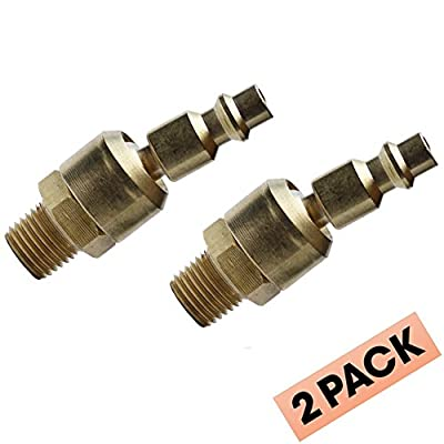 """Uffy - Industrial Ball Swivel 1/4"""" NPT Male Quick Connect Air Tool (M-Style) Milton Fitting"""