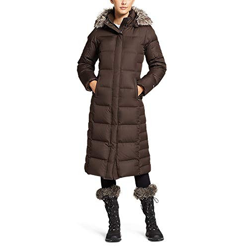 Eddie Bauer Women's Lodge Down Duffle Coat, Cocoa Regular XL