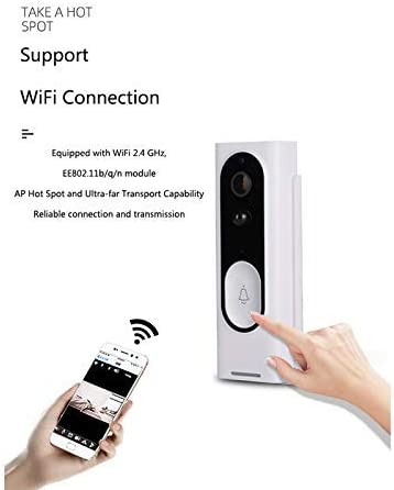 M13スマートWifiドアベル、カメラワイヤレスビデオインターホンドアベル、ナイトビジョンドアベル電話リモート