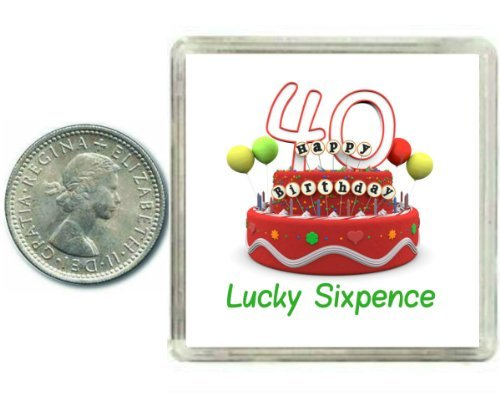 40th Birthday Lucky Sixpence Gift Great Good Luck Present Idea For Man Or Woman