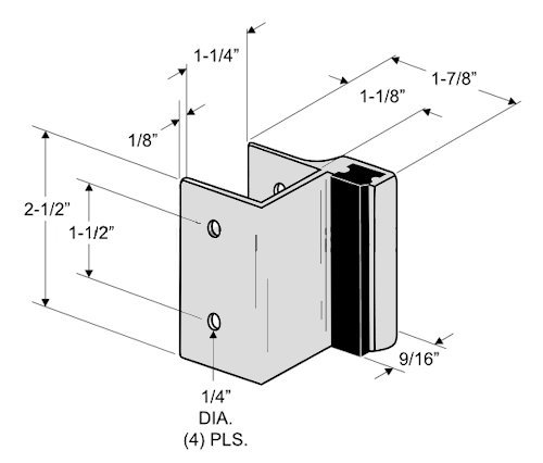 Outswing Door Hardware Repair Pak - for 7/8'' Restroom Partition Door & 1-1/4'' Pilaster by Youngs Catalog (Image #6)