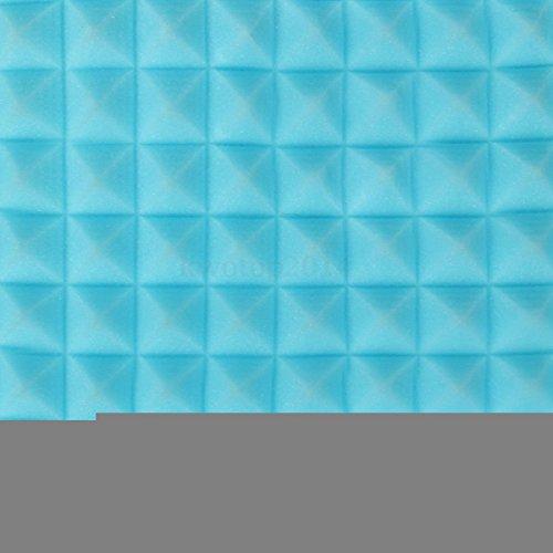 oundproof Sound Stop Absorption Pyramid Studio Foam Sponge - Blue,4 Pack (Pyramid Studio Speakers)