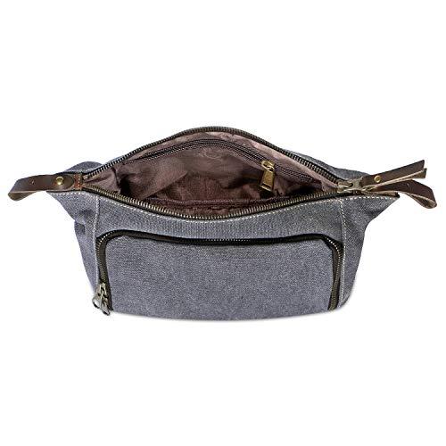 Habitoux -DOPP Kit Mens Toiletry Travel Bag YKK Zipper Canvas   Leather ( Medium, 5d9e067eaf