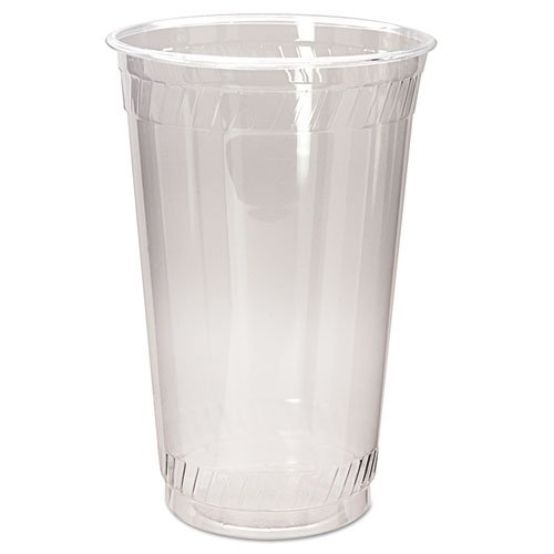 Fabri-Kal Greenware Cold Drink Cups, 20 oz, Clear, 50/Sleeve - Includes 20 sleeves of 50 cups.