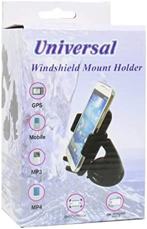 Universal Car Phone Holder Windshield Mount for iPhone//Galaxy Phone Devices Black