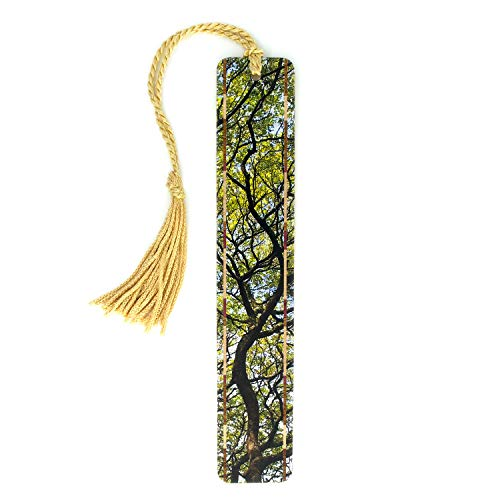 (Hawaiian Monkeypod Tree Branches Color Wooden Bookmark with Tassel)