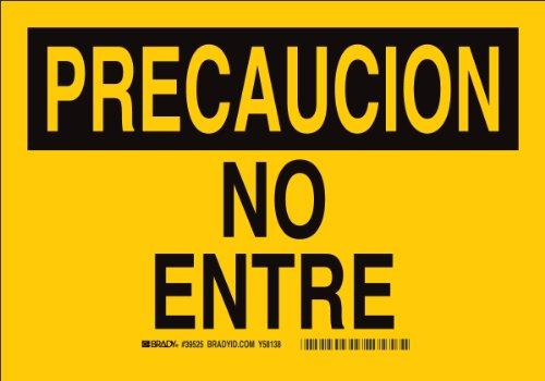 Sign Precaucion - Brady 38650 Plastic, 10