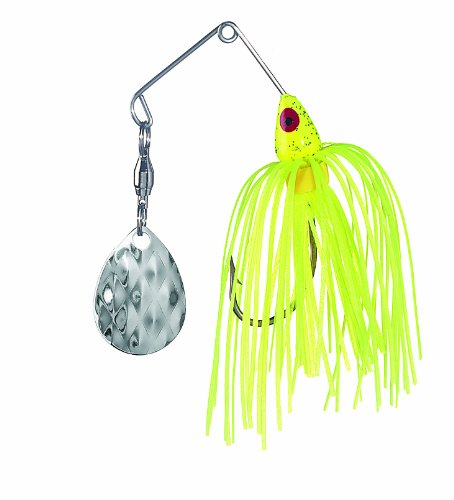 Strike King MK-70 Mini-King Spinnerbait, 1/8-Ounce, Chartreuse