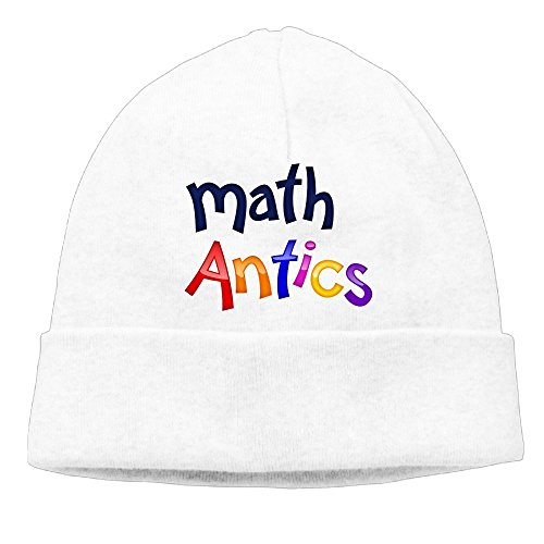 AKKK47 Math Antics Women's Daily Solid Knit Cap Beanie That Fit Your Head Perfect Stretchy & Soft White (Creed White Soap)