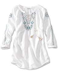 Orvis Womens Lightweight Linen Embroidered Tunic