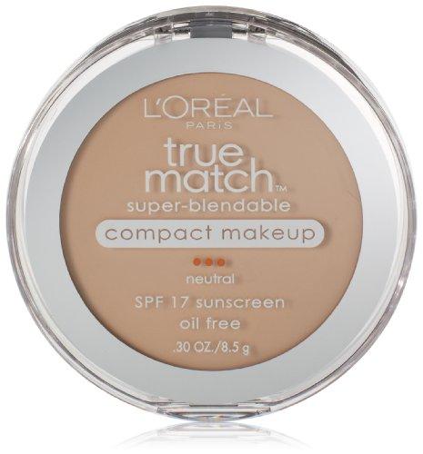 L'Oreal Paris True Match Super-Blendable Compact Makeup, Soft Ivory, 0.3 oz.