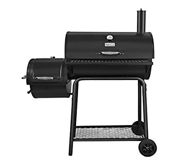 Royal Gourmet BBQ Charcoal Grill with Offset Smoker, 30'' L, New Process Paint Not Flake by Royal Gourmet Corp