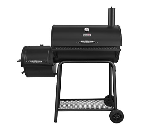 """Royal Gourmet BBQ Charcoal Grill with Offset Smoker, 30"""" L, New Process Paint Not Flake"""