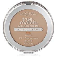 L'Oreal Paris True Match Super-Blendable Compact Makeup, SPF 17, Soft Ivory, 0.30 Ounce