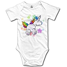 Unicorns Short Sleeves Newborn Baby Special Baby Climbing Clothes, Fashion And Easy To Clean