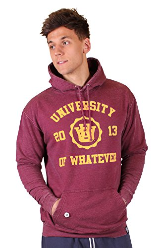 University of Whatever - Hoodie - Men - Mono Dept(M Washed Burgundy JH90) (Sweters Real Madrid)