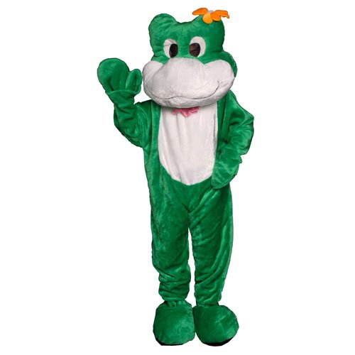 Dress Up America Adults Frog Mascot Costume, Green, One Size
